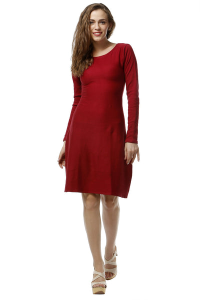 Deep Red Shift Dress
