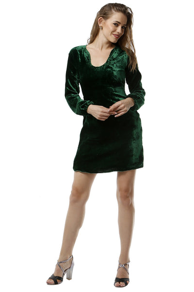Emerald Green Velvetier Dress