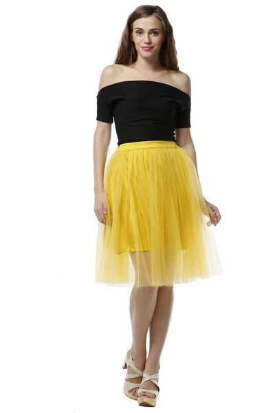 Tulle Skirt - Lime Yellow