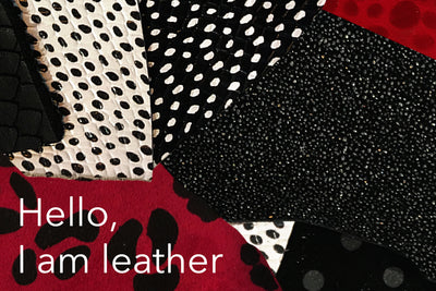 Hello, I am leather - English