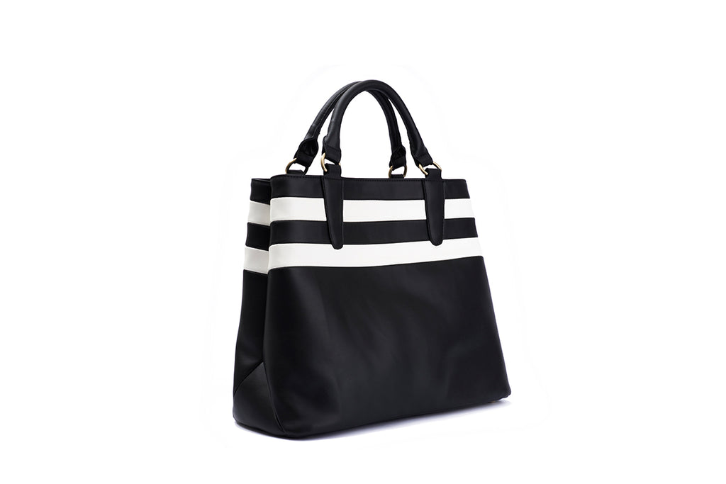 Buy the striped handbag Joan Duo at Lola Ramona today!