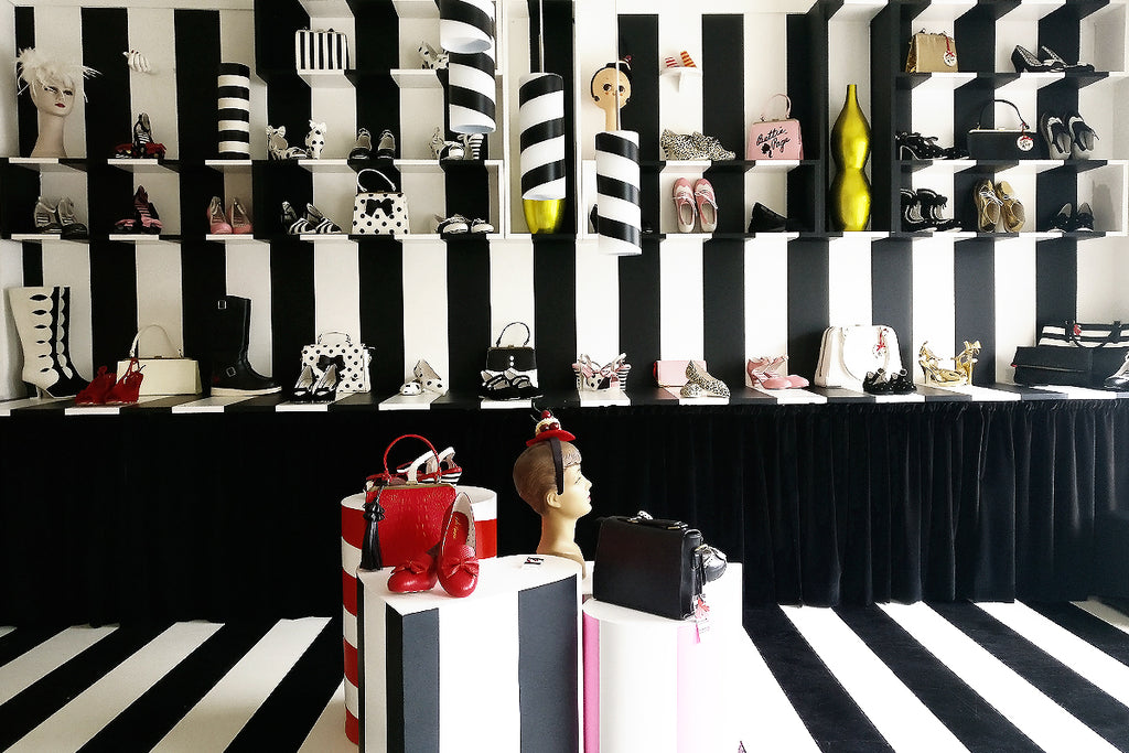 Shoes and bags in Lola Ramona showroom!