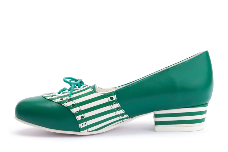 Lola Ramona Shoes - Revisited - Alice Green Stripes 2:2