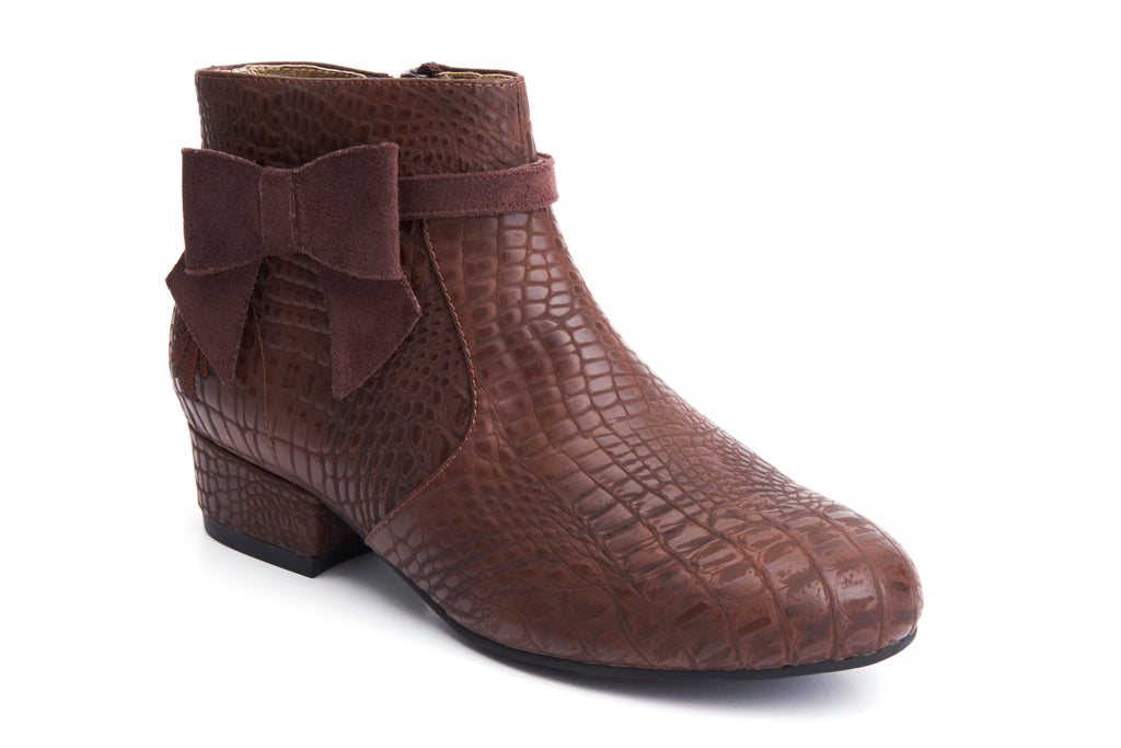 Lola Ramona Shoes - Alice Chestnut - Vegan Booties