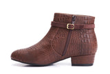Lola Ramona Shoes - Alice Chestnut - Vegan Booties inside