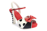 Black and White Striped Heels Lola Ramona Angie Hero Sandal