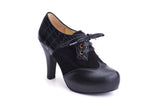 50s Angie Make It Happen Platform Shoe Booties in Black