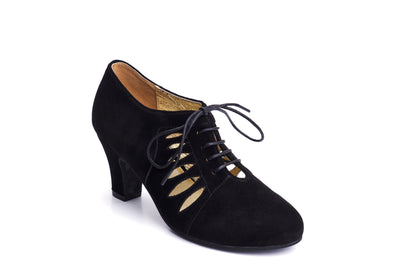 Ava All Tied Up Suede Pumps in Black