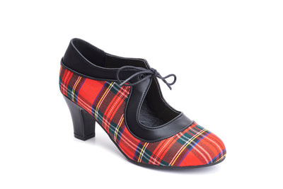 Lola Ramona Shoes  - Ava Tartan - Vegan - lace up heels 1:2