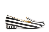 Lola Ramona Shoes Penny Hatter striped Loafers outside