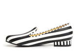 Lola Ramona Shoes Penny Hatter striped Loafers inside