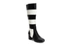 Lola Ramona Shoes - Eve Queen of Hearts - Striped Leather Boots