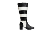 Lola Ramona Shoes - Eve Queen of Hearts - Striped Leather Boots outside