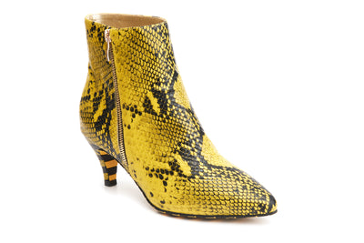 Kitten Outback - Yellow vegan snakeskin heels