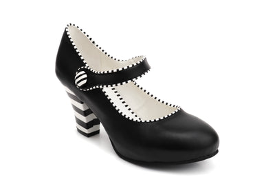 Elsa Candy - Black Vegan heels