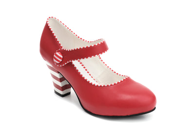 Elsa Lollipop - Red Vegan Heels