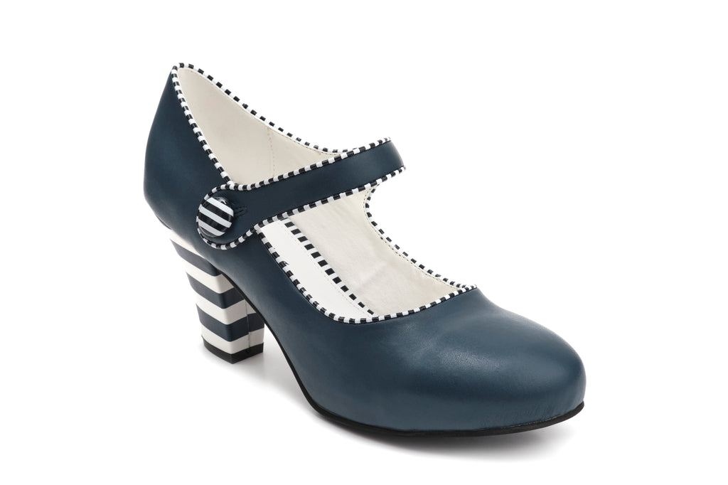 Elsa Sailor - Navy Vegan heels