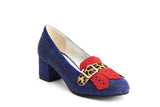 Lola Ramona Shoes - Eve Edge Block Heel Pumps