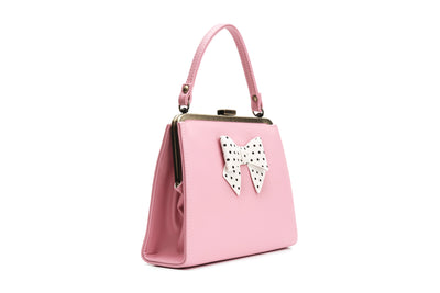 Inez Carina bow Bag in Pink