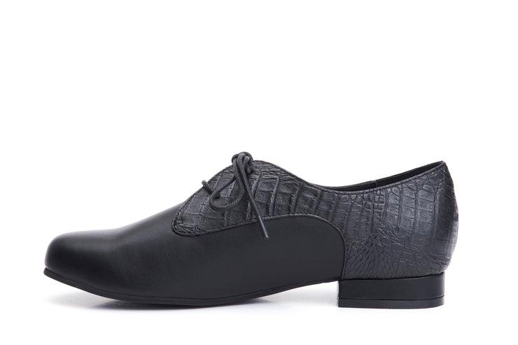 Lola Ramona Shoes - Penny Ebony Vegan lace-up shoes inside