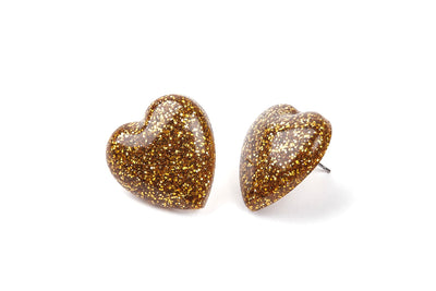Heart Earrings - Gold -