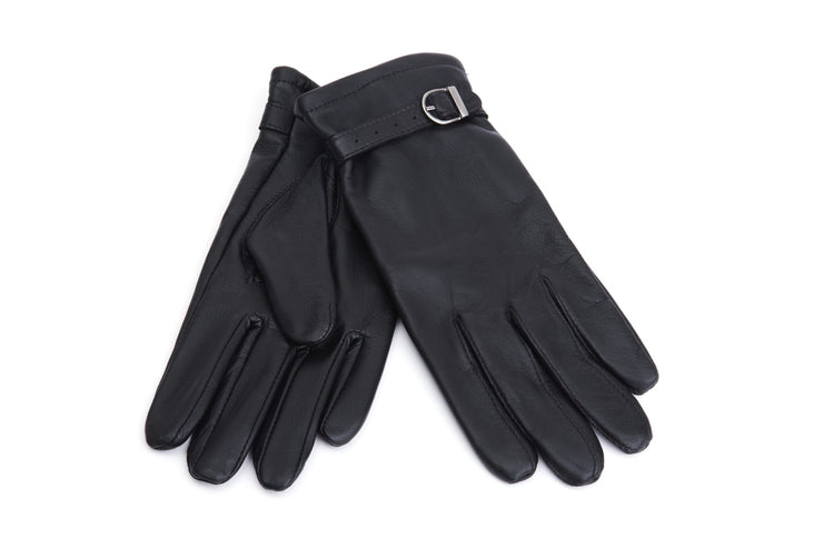 Buckled Beauty Gloves - Black -