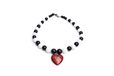 Heart Necklace - Red -
