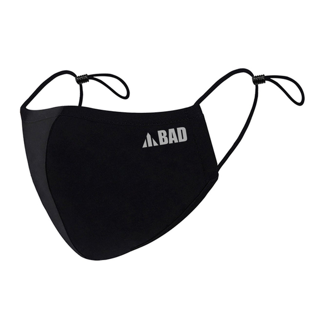 ANTIVIRAL BAD BLACK 3-LAYER REUSABLE HEALTH SAFETY FACE MASK