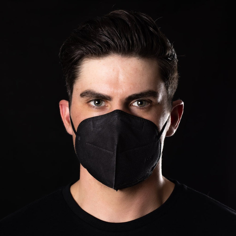 ANTIVIRAL BLACK KN95 HEALTH SAFETY FACE MASK - BAD WORKWEAR