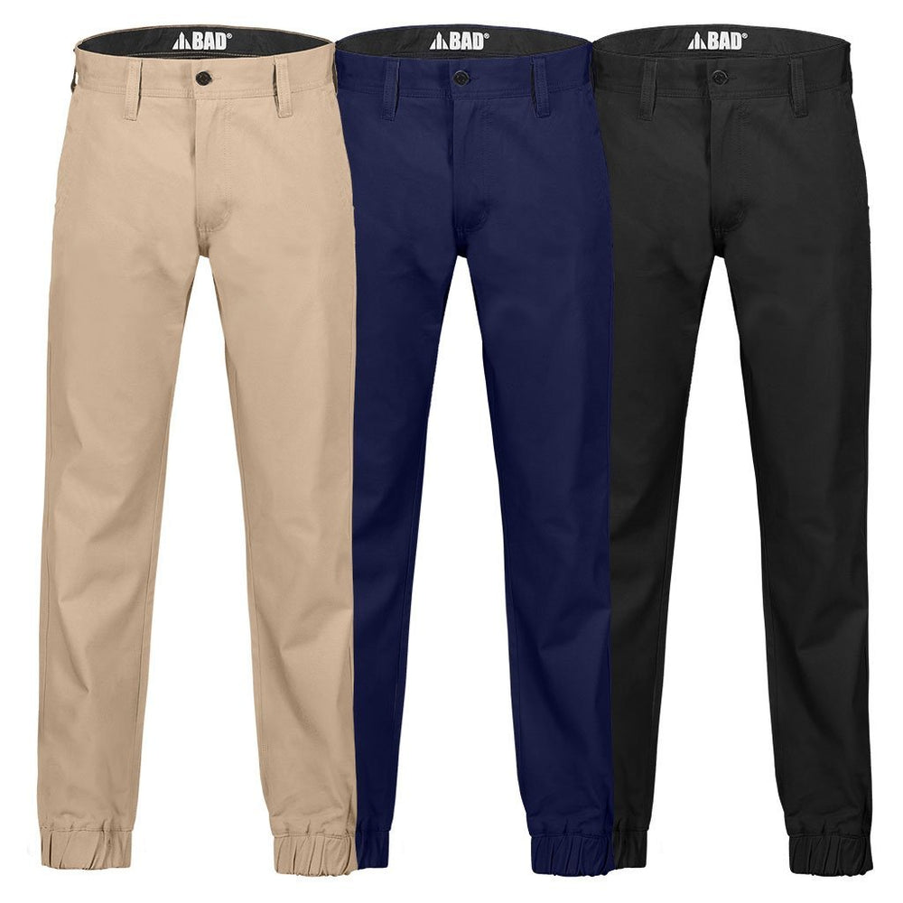 BAD 247™ SLIM FIT CUFFED CHINO WORK PANTS - BAD WORKWEAR