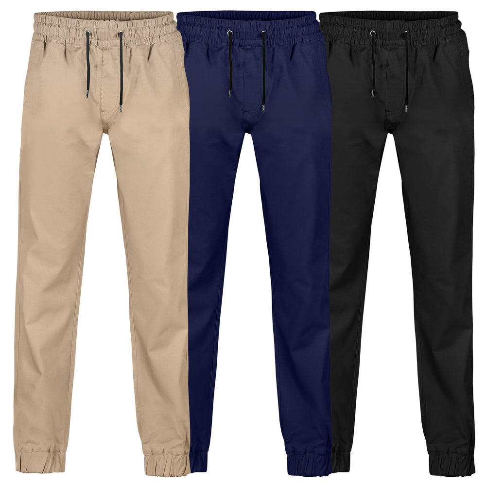 BAD 247™ SLIM FIT CUFFED ELASTIC WAIST CHINO WORK PANTS - BAD WORKWEAR