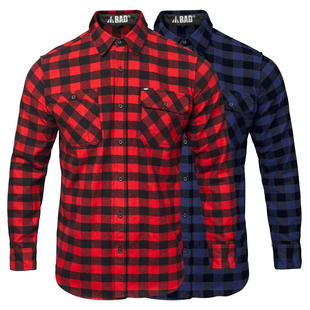 BAD® FLANNELETTE CHECK L/S SHIRT - BAD WORKWEAR