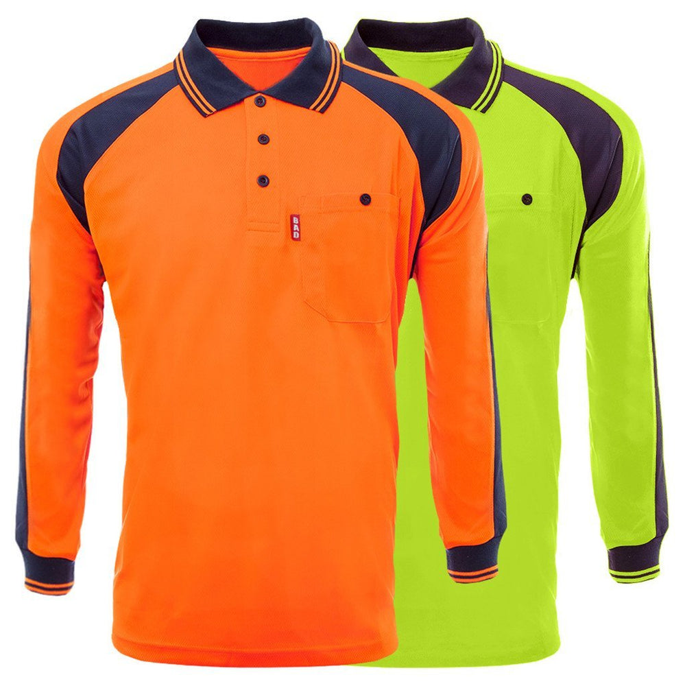 BAD® HI-VIS L/S POLO SHIRT - BAD WORKWEAR