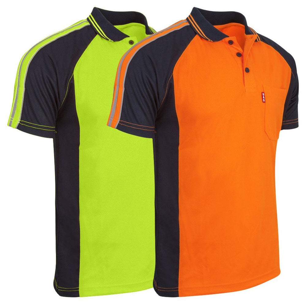 BAD® HI-VIS S/S POLO SHIRT - BAD WORKWEAR