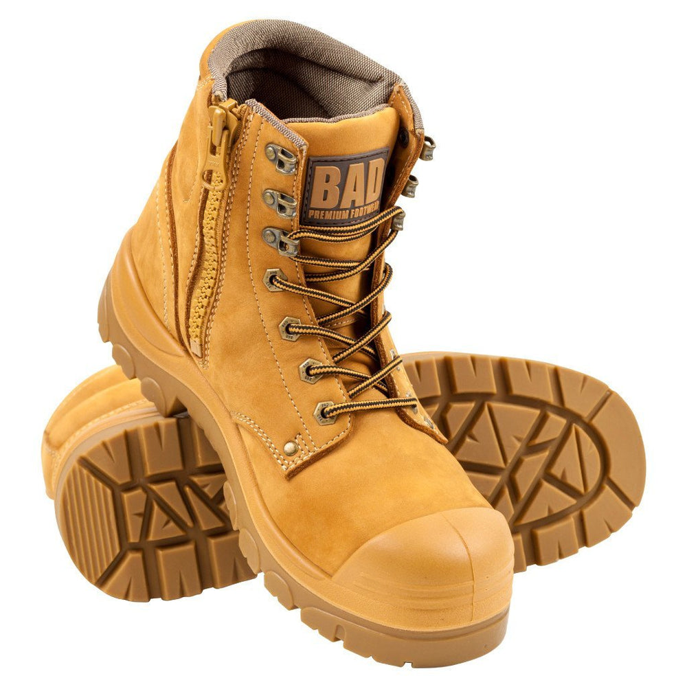 BAD STORM™ ZIP SIDE SAFETY WORK BOOTS