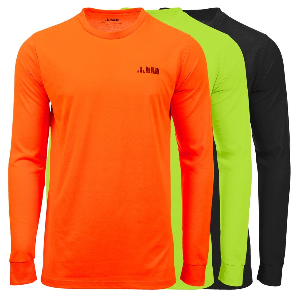 BAD® TRADEMARK HI-VIS L/S T-SHIRT - BAD WORKWEAR