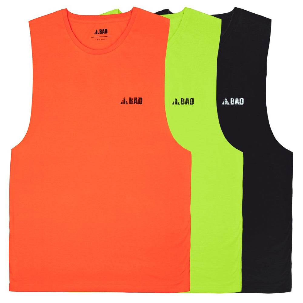 BAD® TRADEMARK HI-VIS SINGLET - BAD WORKWEAR