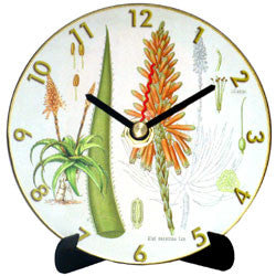 I14 Aloe Botanical Mini LP Clock