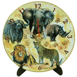 I26 Big 5 Animals Mini LP Clock