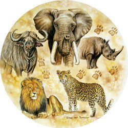 O26 Big 5 Animals Fridge Magnet