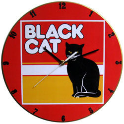A01 Black Cat Record Clock