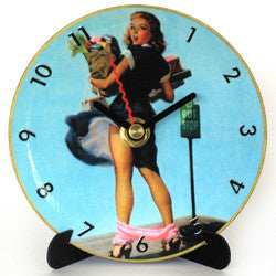 L23 Bus Stop Girl Mini LP Clock