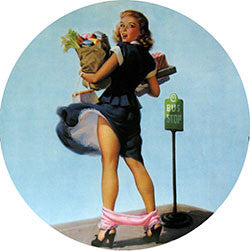R23 Bus Stop Girl Fridge Magnet