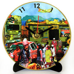 I12 Cape Town Township Mini LP Clock