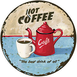 N17 Hot Coffee Fridge Magnet