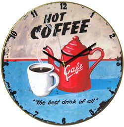 A17 Hot Coffee Record Clock