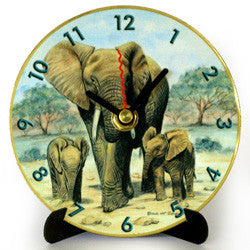 I27 Elephants Mini LP Clock