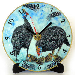 I28 Guinea Fowl Mini LP Clock