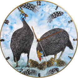B28 Guinea Fowl Record Clock