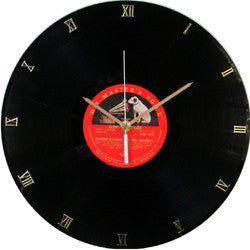 F03 His Masters Voice Record Clock
